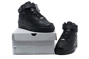 Кроссовки Nike Air Force Mid черные в Казахстане, фото 3