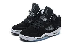 баскетбольные кроссовки Nike Air Jordan 5 Retro черные Акула, фото 2