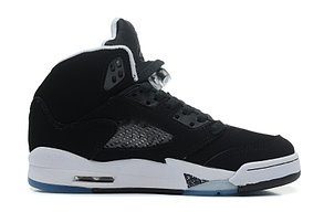 баскетбольные кроссовки Nike Air Jordan 5 Retro черные Акула, фото 3