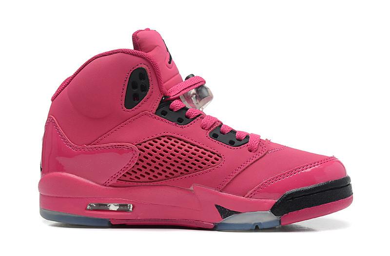 Nike Air Jordan 5 Retro розовые Акула