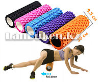 Ролик для фитнеса и йоги цвета в ассортименте (длина=30 см. диаметр=9,5 см)