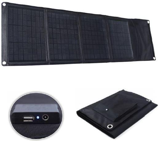 Солнечная панель легко складывается и в сложенном состоянии не занимает много места