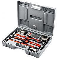 Набор рихтовочный, 3 молотка с фибергласовыми ручками, 4 наковальни, в пласт. боксе, Matrix, фото 1