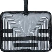 Набор ключей имбусовых HEX-TORX, 18 шт., HEX 1,5-10 мм, T10-T50, CrV, удлиненных, с сатиновым покрытием, MATRIX, фото 1