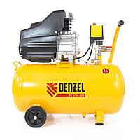 Компрессор пневматический, 1.5 кВт, 206 л/мин, 50 л, DENZEL