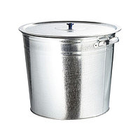 Бак для воды оцинкованные с крышкой (крышка с ручкой) 20 л, без крана, РОССИЯ