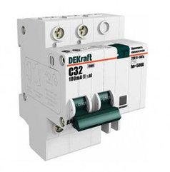 Автоматическое устройство защитного отключения АВДТ (АД12) 2P 32А 30мА DEKraft