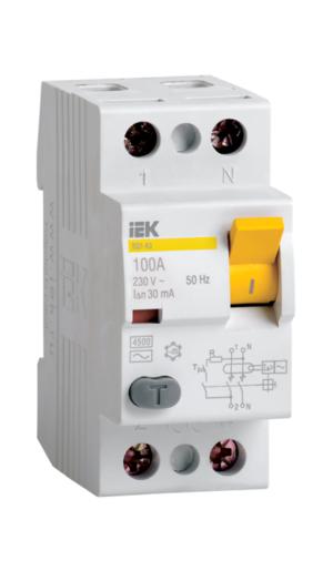 Автоматическое устройство защитного отключения УЗО ВД1 63 (2ф) 25А