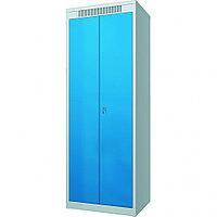 Шкаф металлический гардеробный ШМГ-320, двустворчатая дверь, отсек для головного убора, СТРОЙМАШ