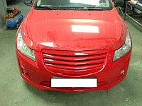 """Решетка радиатора """"Мерс"""" полосы на Chevrolet Cruze 13+, фото 1"""