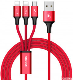 Цифровой адаптер USB lightning Baseus mini USB Dual port 2M