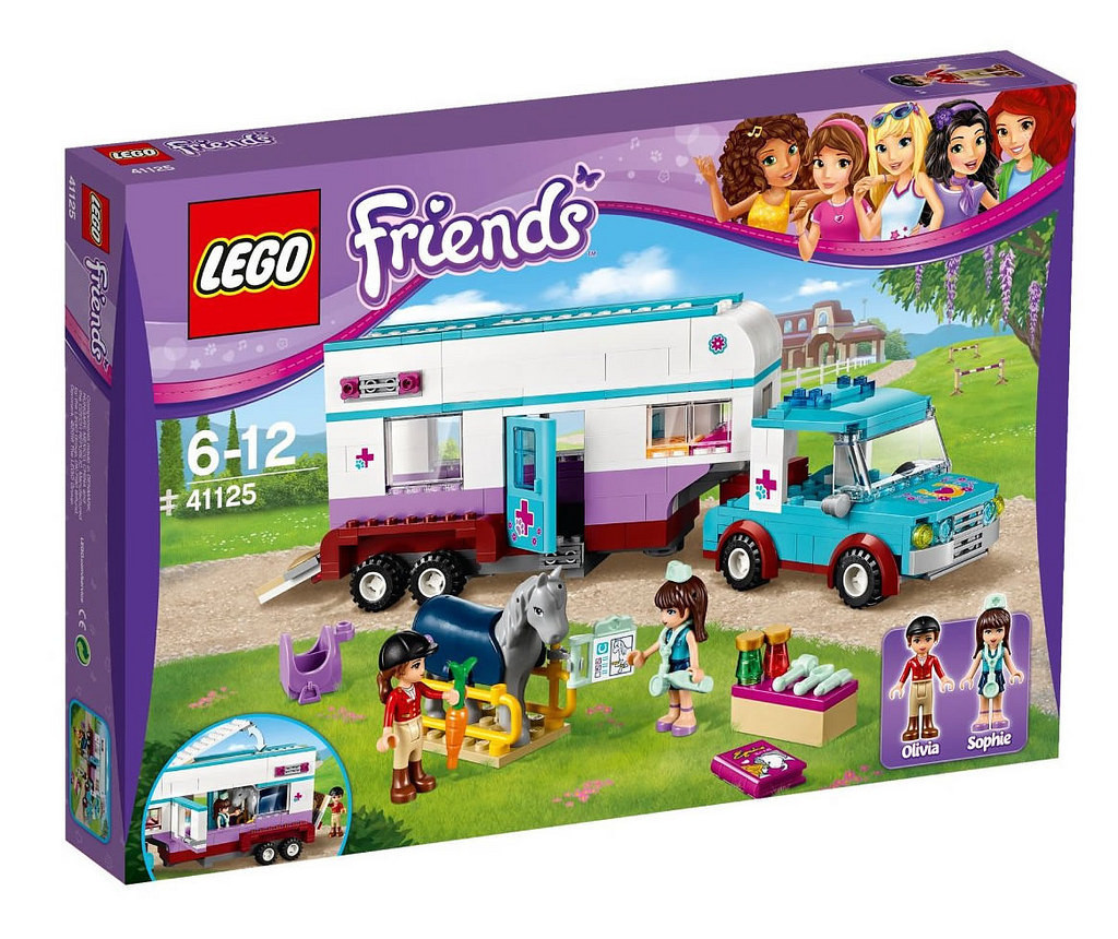 41125 Lego Friends Ветеринарная машина для лошадок, Лего Подружки