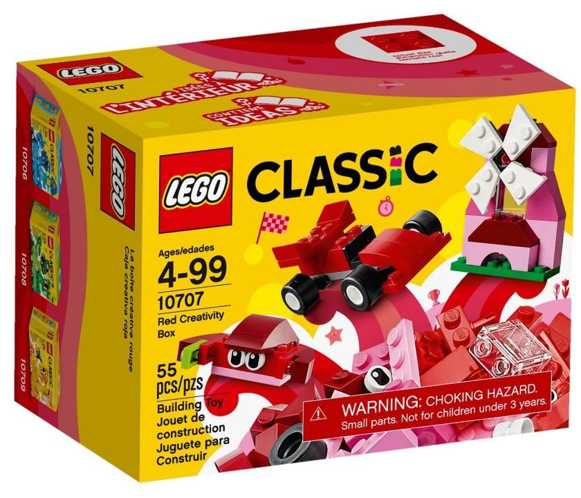 10707 Lego Classic Красный набор для творчества, Лего Классик