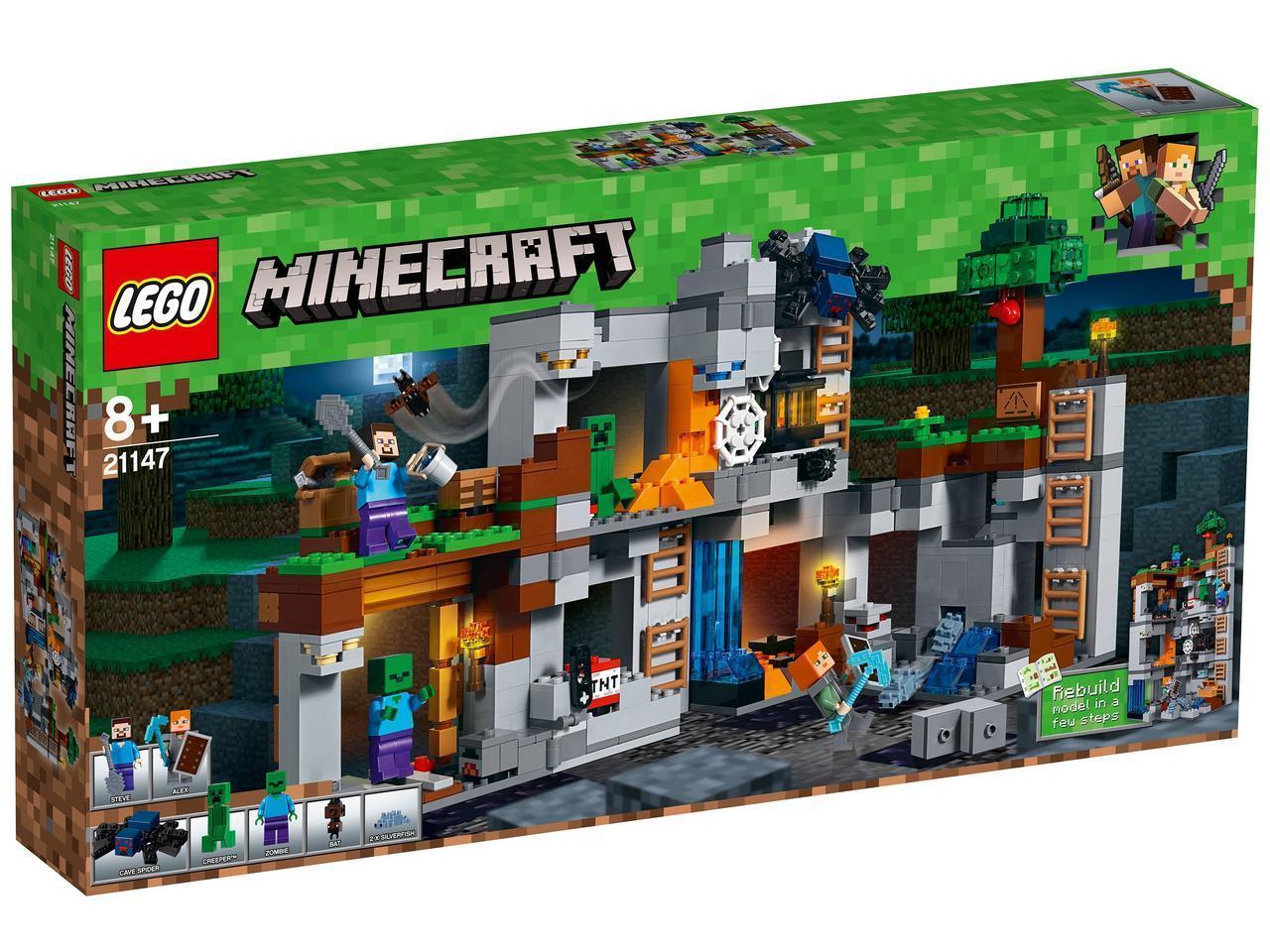 21147 Lego Minecraft Приключения в шахтах, Лего Майнкрафт