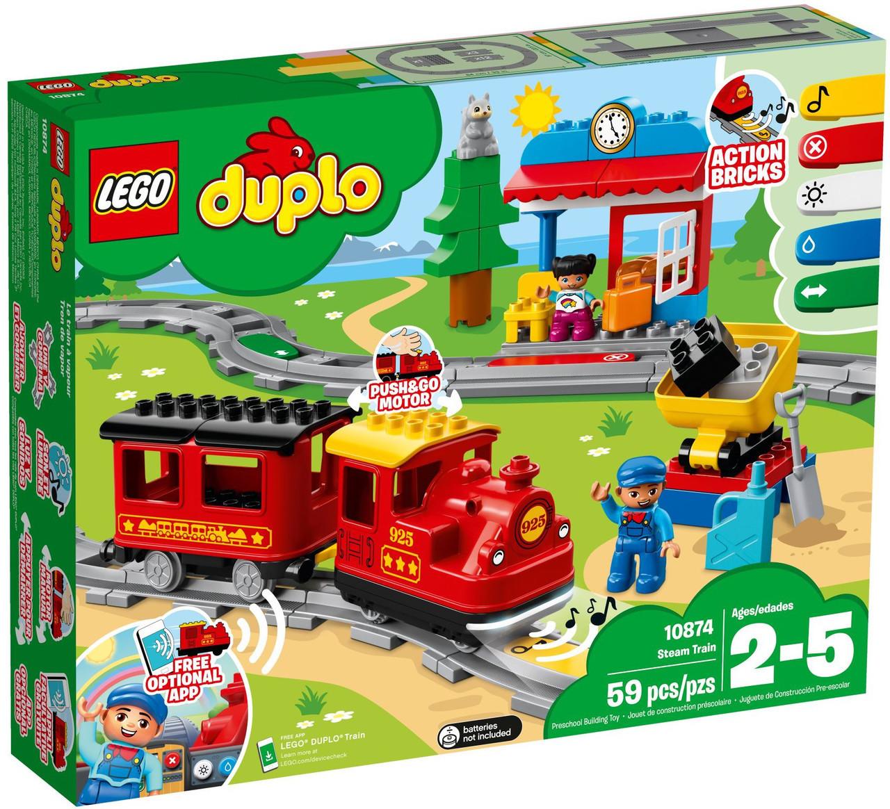 10874 Lego Duplo Поезд на паровой тяге, Лего Дупло