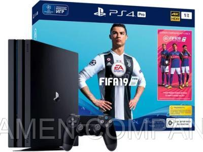 Игровая приставка Sony PlayStation 4 Pro 1TB Black + FIFA 19