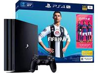 Игровая приставка Sony PlayStation 4 Pro 1TB Black + FIFA 19, фото 1