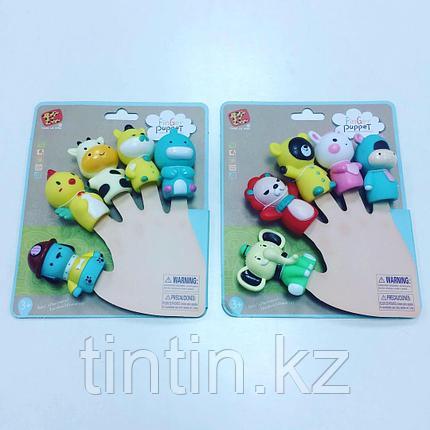 Набор из 5 резиновых игрушек - Пальчиковый театр, фото 2