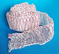 Сетка эластичная формообразующая для колбас 125х36, 3,5 метра, цвет красно-белый