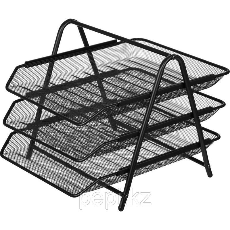 Лоток 3 секции горизонтальный, метал