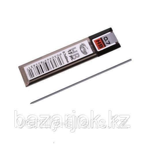 Грифели для механических карандашей 0,7 мм HB, 12 штук, цена за комплект