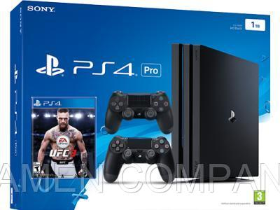 Игровая приставка Sony PlayStation 4 Pro 1TB Black + UFC 3 + Dualshock