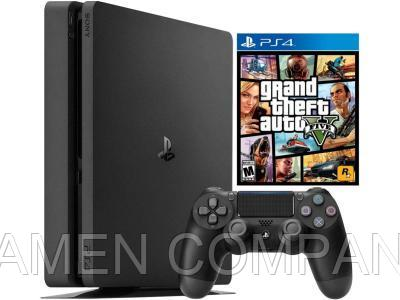 Игровая приставка Sony PlayStation 4 Slim 1 TB Black + GTA V