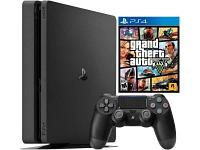 Игровая приставка Sony PlayStation 4 Slim 1 TB Black + GTA V, фото 1
