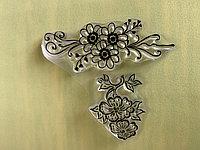Штамп силиконовый для декупажа и скрапбукинга Цветы