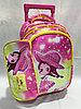 Школьный рюкзак на колесах для девочек 0-1-й класс. Высота 42 см, длина 26 см, ширина 18 см.