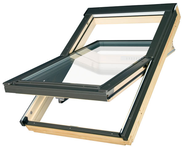 Мансардные окна FAKRO FTS-V U2 с окладом ESV для плоской кровли