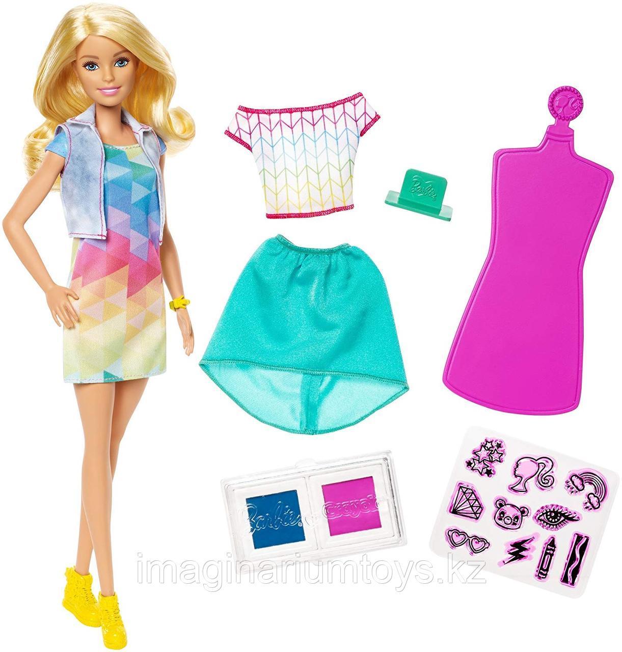 Кукла Барби модница с комплектом одежды Crayola