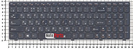 Клавиатура для ноутбука Lenovo IdeaPad G500/ G505/ G510, RU, черная, фото 2