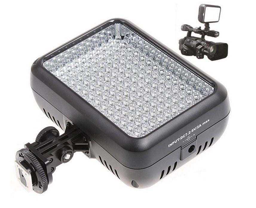 YN-1410 Накамерный LED прожектор фонарь+аккумулятор NP-F570 и зарядное устройство