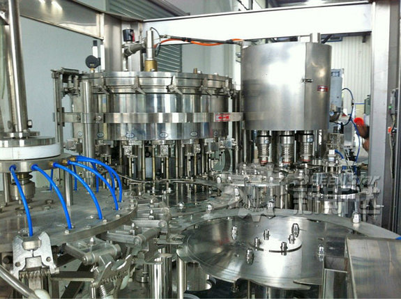 Линия розлива минводы, автомат триблок (ополаскивание, розлив, укупорка) 5 л, 800-1000 бут/час, фото 2