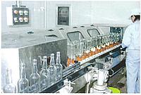 Линия для розлива, ополаскивания, заполнения, укупорки стеклянных бутылок 3000/10000 бут/час