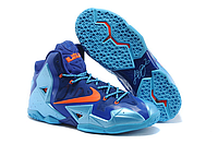 Кроссовки Nike LeBron XI (11) Blue/Orange Elite 2014 (40-46), фото 1