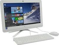 "Моноблок HP 1ED71EA, 19.5"" HD, E2-7110, 4GB DDR3, 500GB 7200RPM, RADEON R2, DVDRW, WIN10, USB KBD, Snow White"