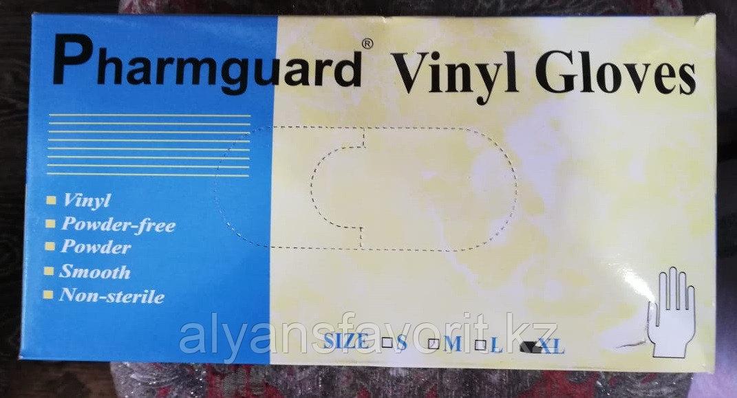 Перчатки виниловые, неопудренные, белые, (PharmGuard)