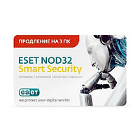 Eset NOD32 Smart Security Renewal 1 Year 3 Users Card Continious
