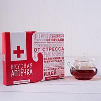 """Набор: чай чёрный 100 г, кофе молотый 100 г """"Вкусная аптечка"""""""