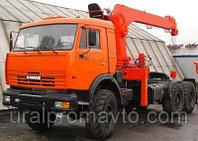 Седельный тягач с КМУ ИТ-180 (тросовый) КАМАЗ 43118, фото 1