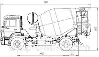 Автобетоносмеситель АБС-5 на шасси КАМАЗ-53605