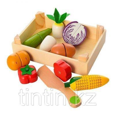 Деревянные разрезные овощи на магнитах, 7 шт