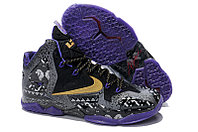 Кроссовки Nike LeBron XI (11) Gold/Purple/Black/White, 43 размер