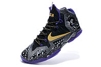 Кроссовки Nike LeBron XI (11) Gold/Purple/Black/White (40-46), фото 4