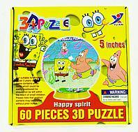 3D Puzzle Yuxin Sponge Bob, 60pcs Пазл Шар Спанч Боб, 60 деталей