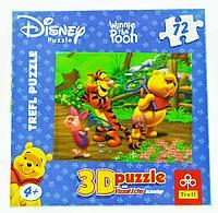 Puzzle TREFL Disney Winnie the Pooh, 72pcs Пазл Дисней Винни Пух, 72 детали