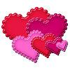 Набор трафаретов для вырубки - классические сердца с фестонными краями