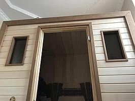 Сборная финская сауна в частном доме для ванной комнаты. Индивидуальное изготовление. Премиум дизайн. Размер = 1,85 х 1,24 х 2,1 м. Адрес: г.... 5